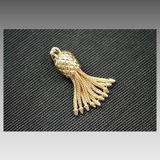 Victorian 14k Gold Tassel Fob Charm
