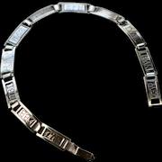 Art Deco Sweetheart/Friendship Sterling Link Bracelet