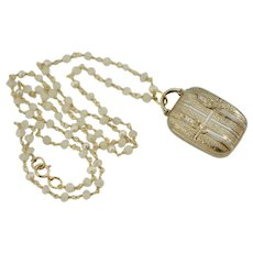 Victorian Buckle Suitcase Fob Charm Necklace