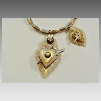 Victorian Sailors Valentine Necklace