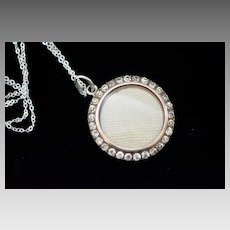 Victorian Sterling French Paste Photo Locket