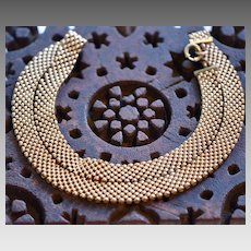 Victorian Gold Filled Collar Mesh Necklace
