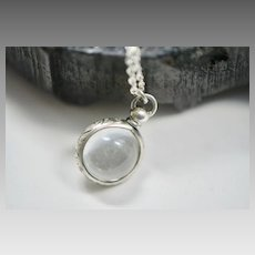 Victorian Sterling Pools of Light Orb Fob Necklace
