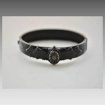 Victorian Black Bangle Bracelet