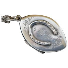 Victorian Birmingham Sterling Horseshoe Locket
