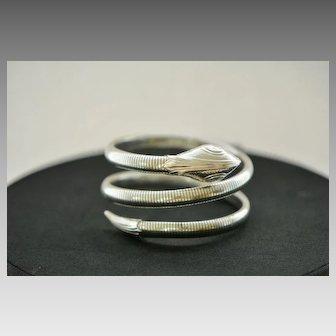 Vintage Silvertone Snake Bangle Bracelet