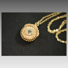 Victorian Gold Filled French Paste Fob Necklace