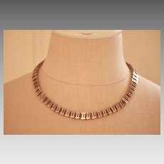 Victorian Gold Filled Book Chain Collar Necklace