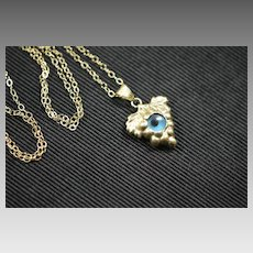 Victorian 14k Gold Evil Eye - Grapes Setting Necklace