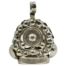 Victorian Sterling Fob Charm/Pendant, 1880s
