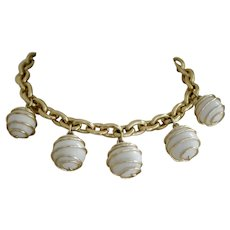 Vintage 1960s Caged Ball Bib Necklace