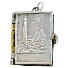 Art Nouveau French Book Locket, La Matelote Sur Mer
