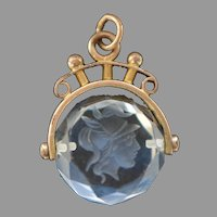 Edwardian Rock Crystal Intaglio Spinner