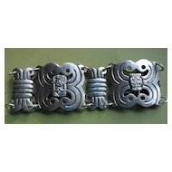COLOMBIAN Incan Mythological Figures Panel Link Bracelet
