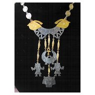 """""""ART"""" Egyptian Revival Two-Tone Necklace"""