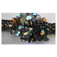 EDLEE Aurora Borealis Art Glass Bracelet