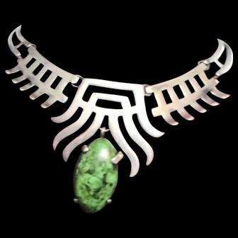 SALVADOR TERAN Jade And Sterling Silver Choker Necklace