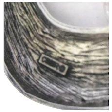 "CINER Signed 4.5"" Green & Yellow Enamel & Crystal Figural Brooch/Pin"