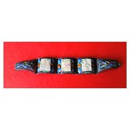 Chinese Sterling Silver Filigree Enamel Bracelet