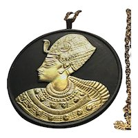 WEDGWOOD Tutankhamen Egyptian Revival Pendant Necklace