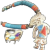NATIVE AMERICAN Sterling Turquoise Coral Katchina Heishi Necklace/Ring