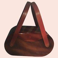 LUCITE Brown Handbag/Purse