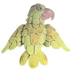 HATTIE CARNEGIE Signed Enamel Parrot Brooch/Pin