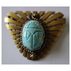JOSEFF Art Deco Style Scarab Brooch