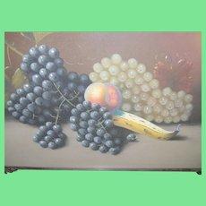 Pastel Still Life Grapes & Fruit S. Humphrey