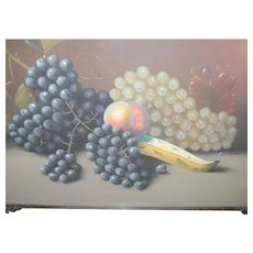 Pastel Still Life Grapes & Fruit S. Humphrey