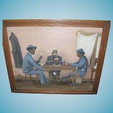 Folk Art Oil on Canvas by Eugene Francisco