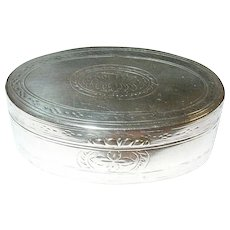 Antique Sterling Snuff Box by N.F