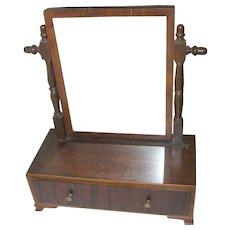 Antique Vanity Mirror Footed