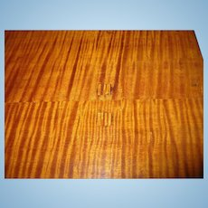 Antique Tiger Maple Drop Leaf Table 1790's - 1820's