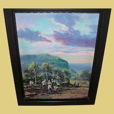 "Wichie Torres Oil on Canvas ""Manigua Enla Altura"""