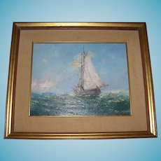 Seascape Oil on canvas Signed