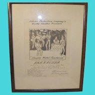 "Vintage Music Concert Poster ""Heavy Metal Fantasia"" NJ"