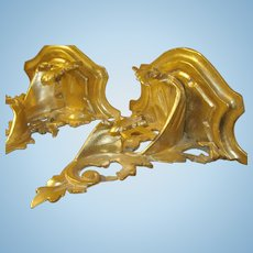 Vintage Wall Brackets Hand Carved Gold Gilt 1890's