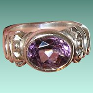 Vintage Ring Sterling Faux Amethyst by ESPO SIG