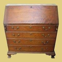 Antique Drop Front Desk Chippendale Foot 1790's -1820's