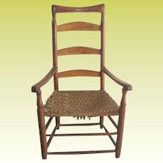 Antique Ladder Back Chair 1790's