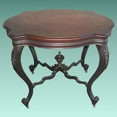 Antique Foyer Table 1870 Heavily Carved