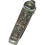 Sterling Cigar Cutter Repousse Work 1870's