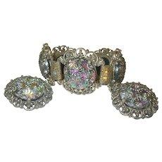 Vintage Judy Lee Bracelet Earring Set