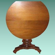 Tilt Top Table Original Casters 1860's