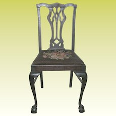 Mahogany Claw Ball Foot Side Chair 1880's