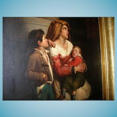 Oil on Canvas Mother and Children 1790-1820