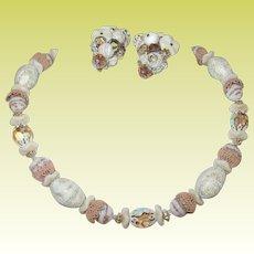Vintage Necklace Earring Set by Schiaprelli