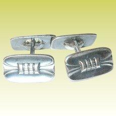 Vintage Cuff Links Danish 830 silver Modernist Design