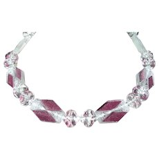 Art Deco Necklace Rock Crystal Beads